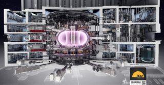 ITER, tokamak, który ma wytwarzać plazmę o temperaturze 10-20 krotnie wyższej od temperatury jądra Słońca