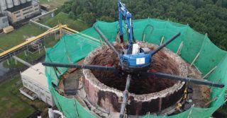 Uniserv buduje komin w Koksowni Przyjaźń w Dąbrowie Górniczej