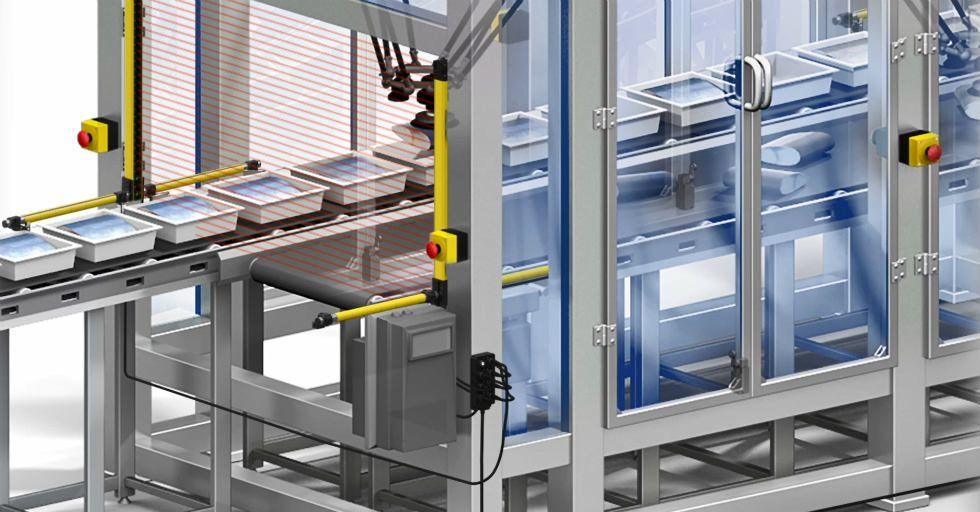 Fotoelektryczna kurtyna bezpieczeństwa na liniach produkcyjnych