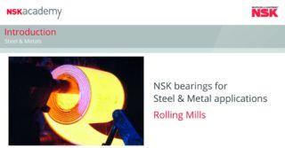 Łożyska do walcarek: nowy moduł szkoleniowy online NSK