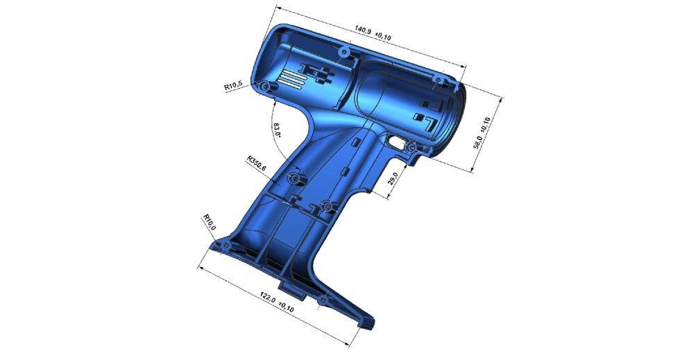 Rys. 5. Wymiary 3D PMI