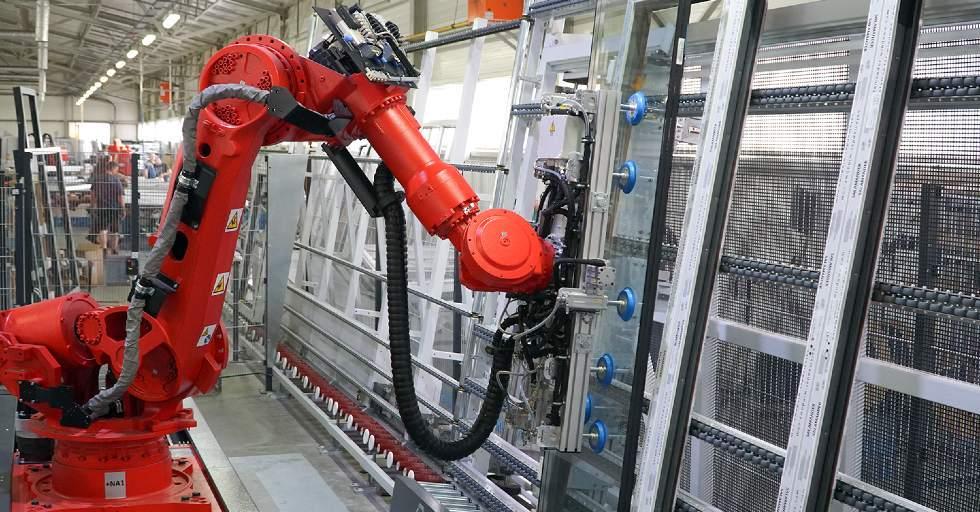 robot na produkcji okien
