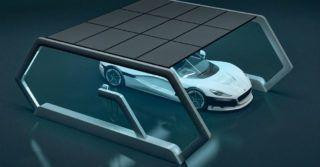 Solarny garaż z modułami perowskitowymi od polskich inżynierów z Saule Technologies