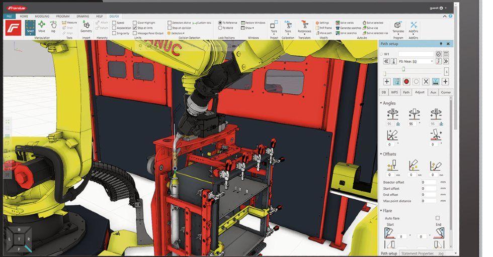 Oprogramowanie Pathfinder umożliwia konfigurację iparametryzację nowych zadań spawalniczych jeszcze wczasie spawania /Fot. Fronius International GmbH