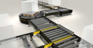 Modułowy system do automatycznego transportu palet