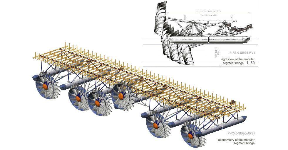 Turbina hydrodynamiczna dla małej energetyki wodnej o mocy osiągalnej do 20 kW
