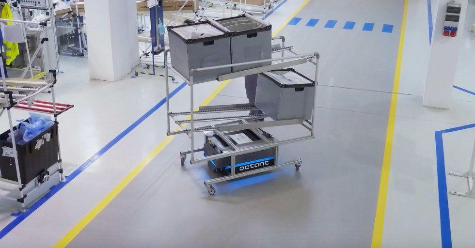 Zastosowanie robotów mobilnych na liniach montażowych