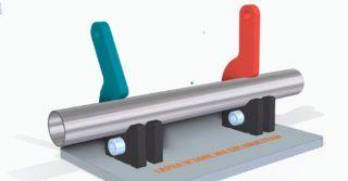 Jak stworzyć zacisk spawalniczy: mechanizm krzywkowy dociągający rurę do pryzmy