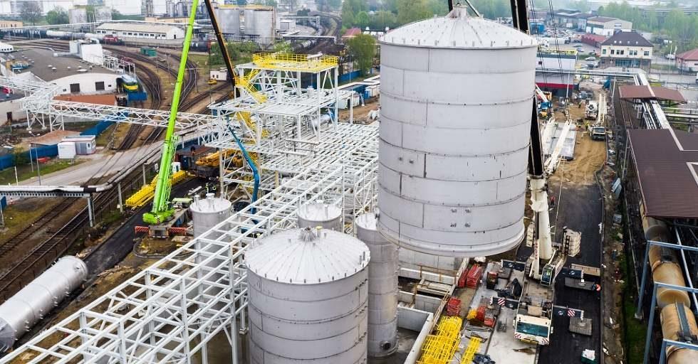Montaż zbiorników na ekologiczny glikol dla Orlen Południe